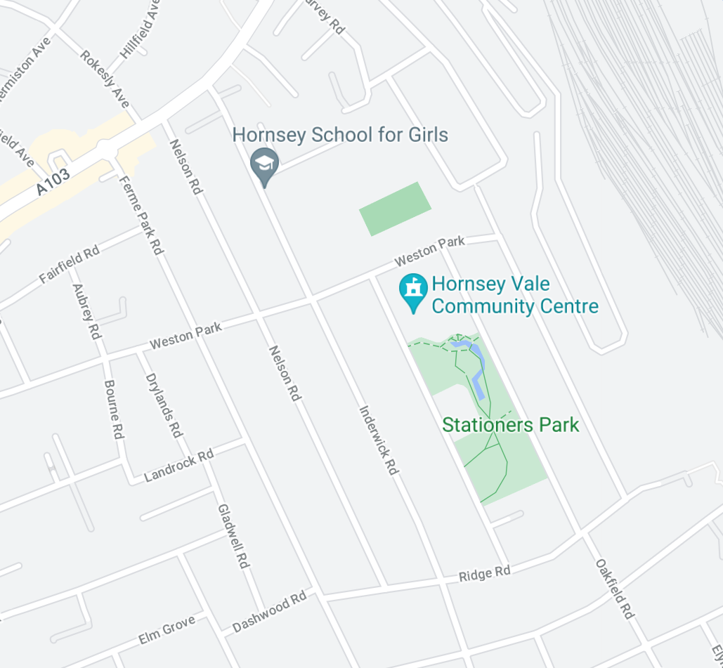 Pin of Hornsey Vale Community Centre on Google Maps
